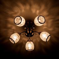 30026/5 / потолочный светильник /   античная бронза